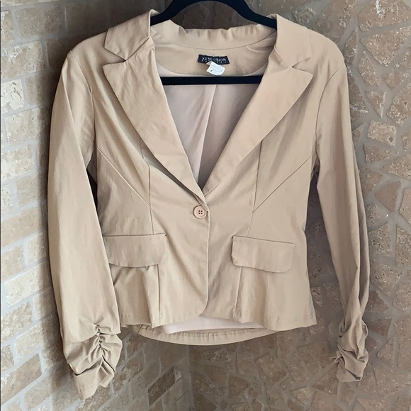 Jackets & Blazers - Tan Coloured Blazer (Very Stretchy!)